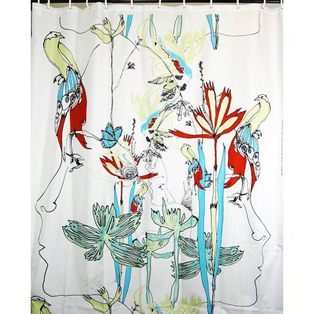 Spring Is In The Air Marimekko Iso Satakieli Shower Curtain Via Everything Turqoiuse